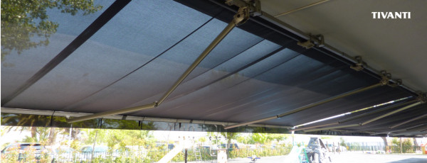 Monocloc awning Dim 400 Pureza de Maria School