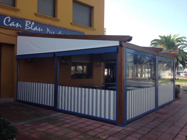 Pèrgola tendal pluja Med Country Elite - Restaurant Can Blau