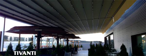 Pèrgola tendal pluja Med Quadra 165 - Centre comercial La Junquera