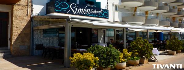 Pèrgola tendal pluja Med Viva - Restaurant Simon