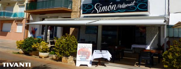 Pérgola toldo lluvia Med Viva - Restaurante Simon
