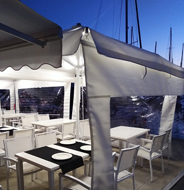 Sicilia Telescopic umbrella - Angamagno Milanesa Restaurant