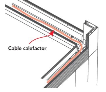 Heating cable 90º pergolas