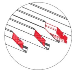 Insulation of slats